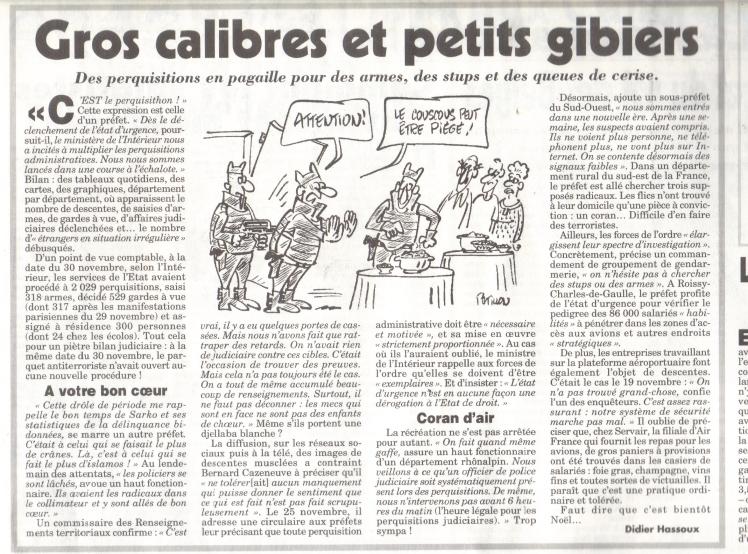 Merci au Canard, à Didier Hassoux et à Pétillon