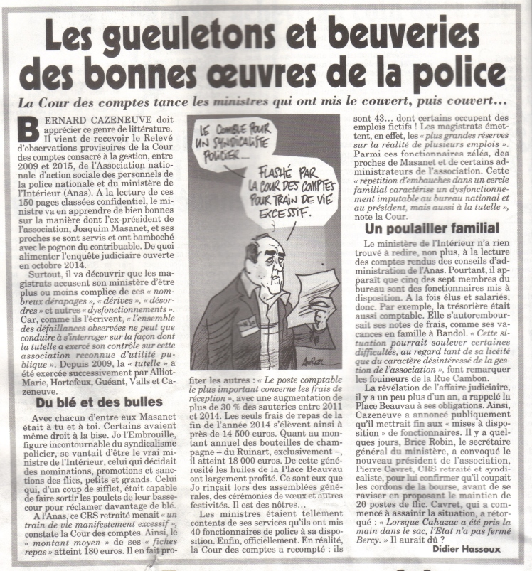 gueletons et beuveries police