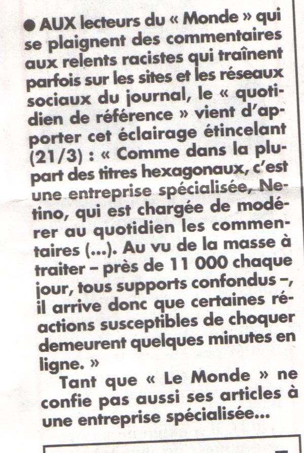 modérateurs Le Monde